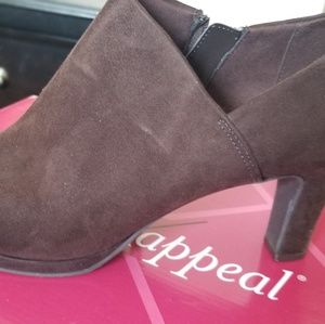 Brown Suede Ankle Booties